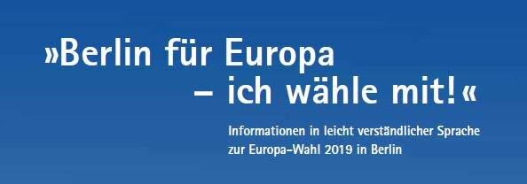 Berlin für Europa - ich wähle mit