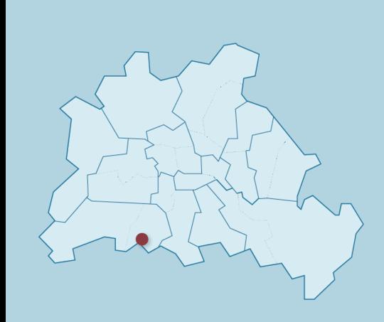 Karte von Berlin mit Standort des MZEB