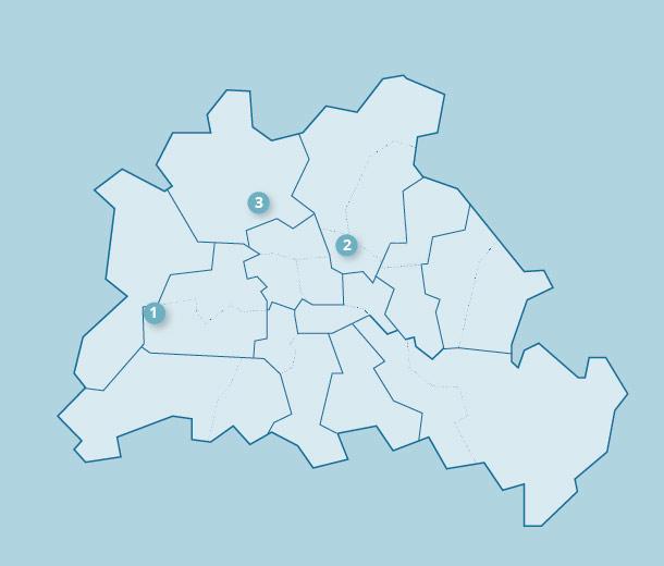 Karte mit Standorten der der Tagesförderstätten